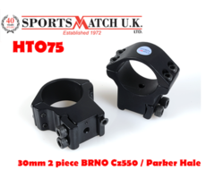 Sportsmatch HTO75 30mm 2 Piece BRNO CZ550 / Parker Hale Scope Rings