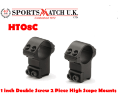 Sportsmatch HTO8C 1 inch Double Screw 2 Piece High Rifle Scope Ring Mounts