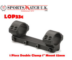 Sportsmatch LOP33C 1 Inch Low 1 Piece Airgun / Rimfire Scope Mount