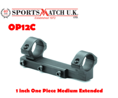 Sportsmatch OP12C 1 inch One Piece Medium Extended Scope Mount