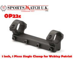 Sportsmatch OP22 1 inch 1 Piece Single Clamp Scope Mount for Webley Patriot