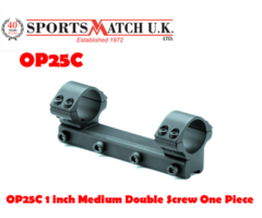 Sportsmatch OP25C 1 inch Medium Double Screw One Piece Rifle Scope Rings