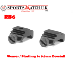 Sportsmatch RB6 Weaver / Picatinny to 9.5mm Dovetail Adapter