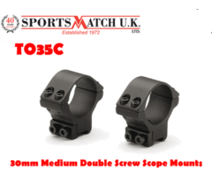 Sportsmatch TO35C 30mm Medium Double Screw 2 Piece Rifle Scope Ring Mounts