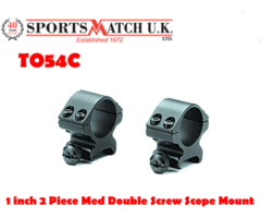 Sportsmatch TO54C 1 inch Two Piece Medium Double Screw Mount