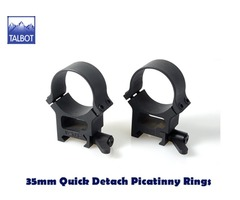 Talbot QD Mounts – 35mm Quick Detach 1913 Picatinny 2 piece Scope Rings