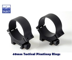 Talbot QD Mounts – 40mm Tactical Nut 1913 Picatinny 2 piece Scope Rings