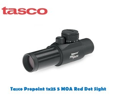 Tasco 1×25 Propoint 5 MOA Red Dot Sight with Rings