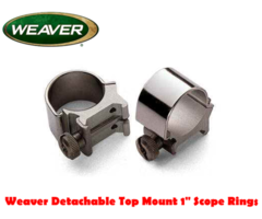 Weaver Detachable Top Mount 1″ Scope Mount Rings
