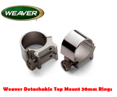 Weaver Detachable Top Mount 30mm Scope Mount Rings