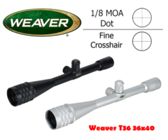 Weaver T36 T-Series 36×40 AO Bench Rest Riflescope