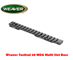 Weaver Tactical Multi Slot Flat / 20 MOA Rifle Mount Base