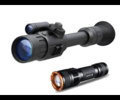 Yukon Photon XT 4.6×42 Night Vision Rifle Scope + Tracer IR 400m Torch