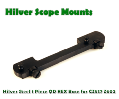 Hilver Steel Full Bore 1 Piece QD Rifle Base Hex Screw