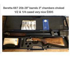 Beretta 687 20 bore