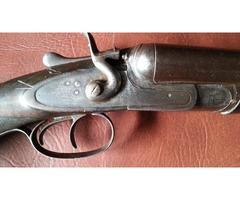 SLINGSBY OF BOSTON/SLEAFORD  - SIDE BY SIDE 12 GAUGE  HAMMER SHOTGUN
