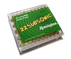 Subsonic 38gr Hollow Point Remington .22 Rimfire