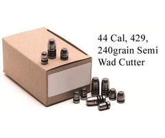 GM Lead Bullet Heads 429, 240grain Semi Wad Cutter SWC Pack 500