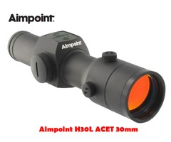 Aimpoint H30L ACET 30mm 2 MOA Black Red Dot Sight