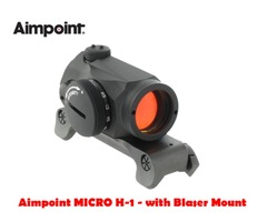 Aimpoint MICRO H-1 2 MOA Black Red Dot Sight with Blaser Mount