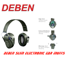 Deben Slim Electronic Ear Muffs / Hearing Protectors